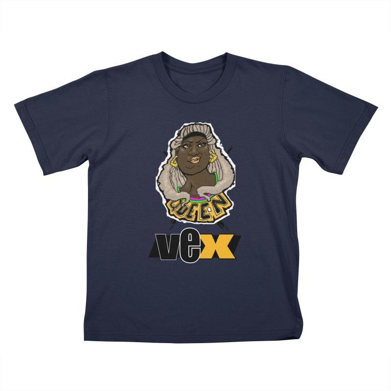 Queen Vex Face design Kids T-Shirt by StudioVexer's Artist Shop