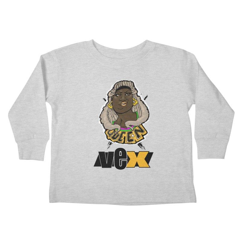 Queen Vex Face design Kids Toddler Longsleeve T-Shirt by StudioVexer's Artist Shop