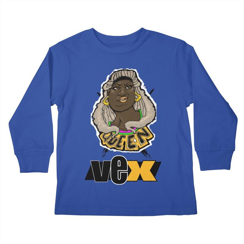 Queen Vex Face design Kids Longsleeve T-Shirt by StudioVexer's Artist Shop