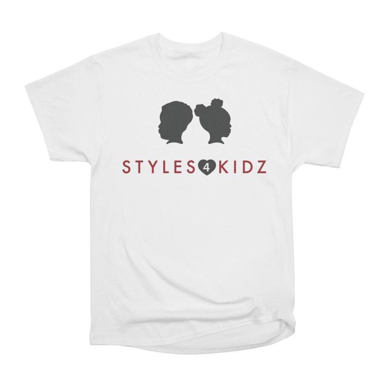 Styles 4 Kidz - White Men's T-Shirt by STYLES 4 KIDZ, NFP