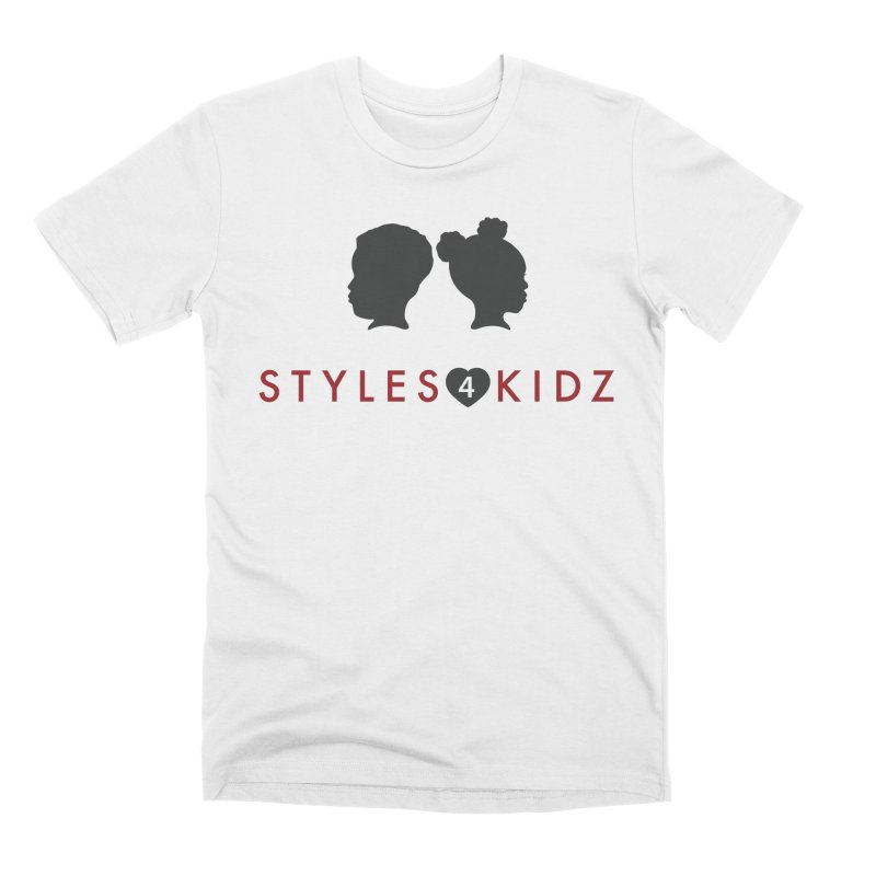 Styles 4 Kidz - White Men's T-Shirt by STYLES 4 KIDZ, NFP
