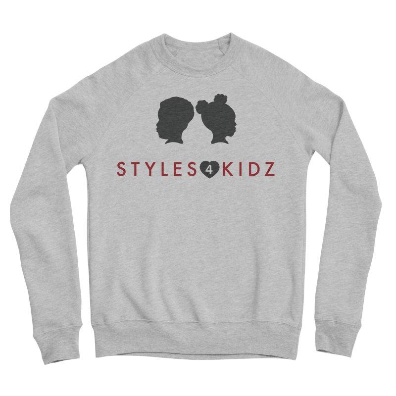 Styles 4 Kidz - White Men's Sponge Fleece Sweatshirt by STYLES 4 KIDZ, NFP