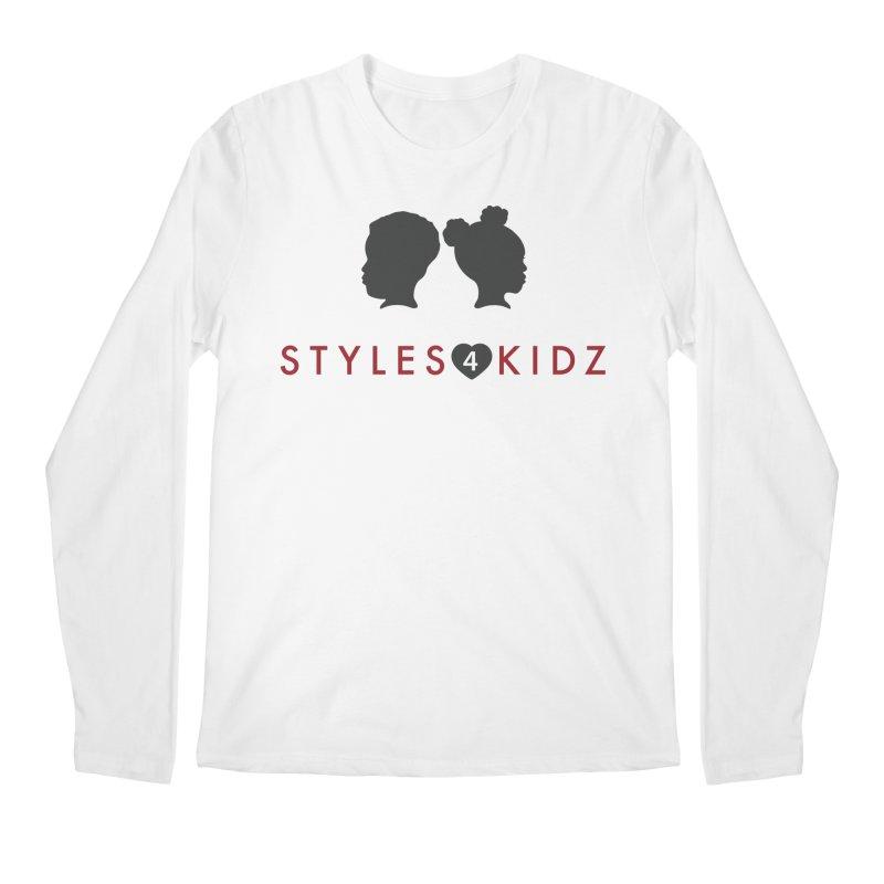 Styles 4 Kidz - White Men's Regular Longsleeve T-Shirt by STYLES 4 KIDZ, NFP