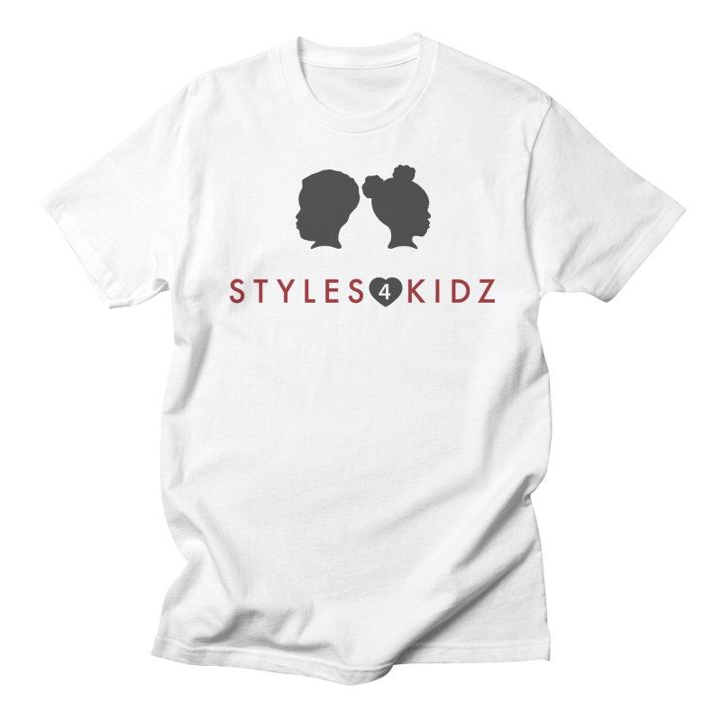Styles 4 Kidz - White Men's Regular T-Shirt by STYLES 4 KIDZ, NFP