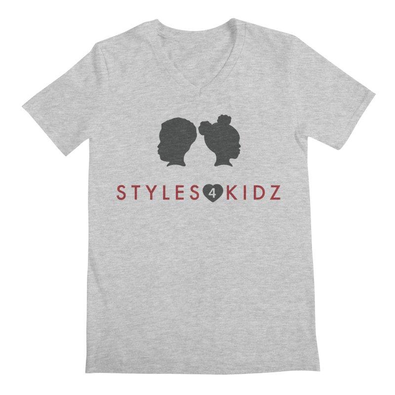 Styles 4 Kidz - White Men's Regular V-Neck by STYLES 4 KIDZ, NFP