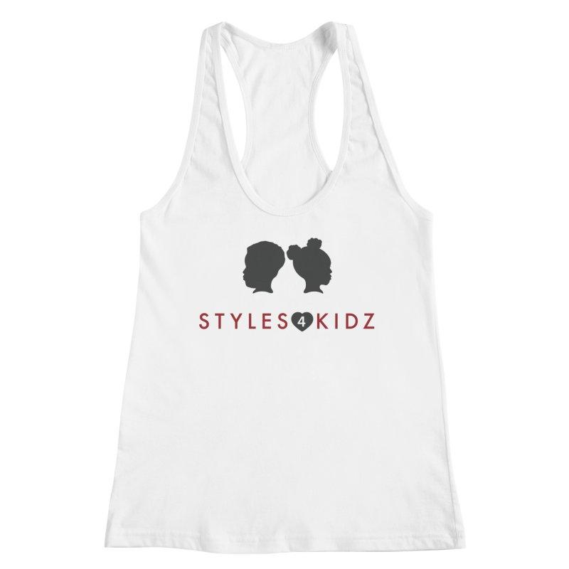 Styles 4 Kidz - White Women's Racerback Tank by STYLES 4 KIDZ, NFP