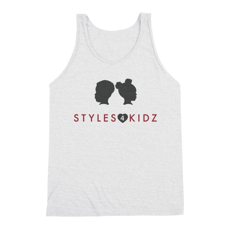 Styles 4 Kidz - White Men's Triblend Tank by STYLES 4 KIDZ, NFP