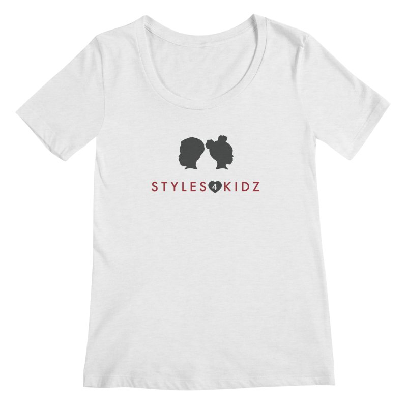 Styles 4 Kidz - White Women's Scoop Neck by STYLES 4 KIDZ, NFP