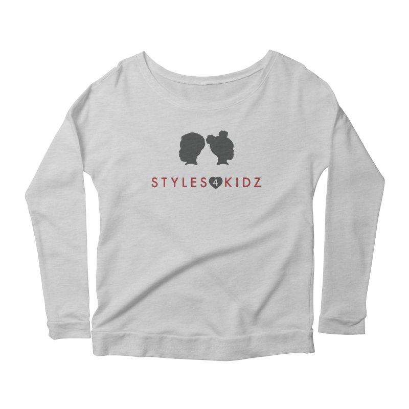 Styles 4 Kidz - White Women's Scoop Neck Longsleeve T-Shirt by STYLES 4 KIDZ, NFP