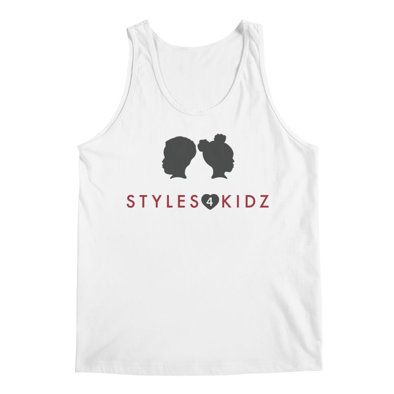 Styles 4 Kidz - White Men's Regular Tank by STYLES 4 KIDZ, NFP