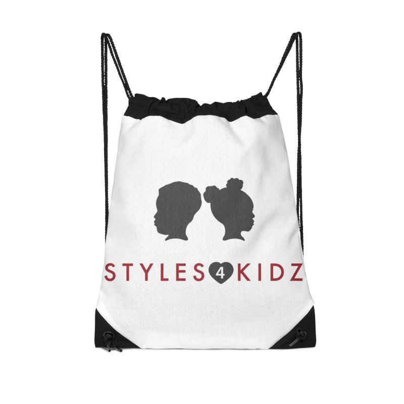 Styles 4 Kidz - White Accessories Drawstring Bag Bag by STYLES 4 KIDZ, NFP