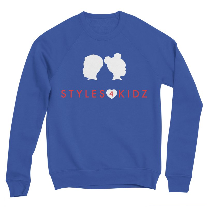 Styles 4 Kidz - Blue Men's Sponge Fleece Sweatshirt by STYLES 4 KIDZ, NFP