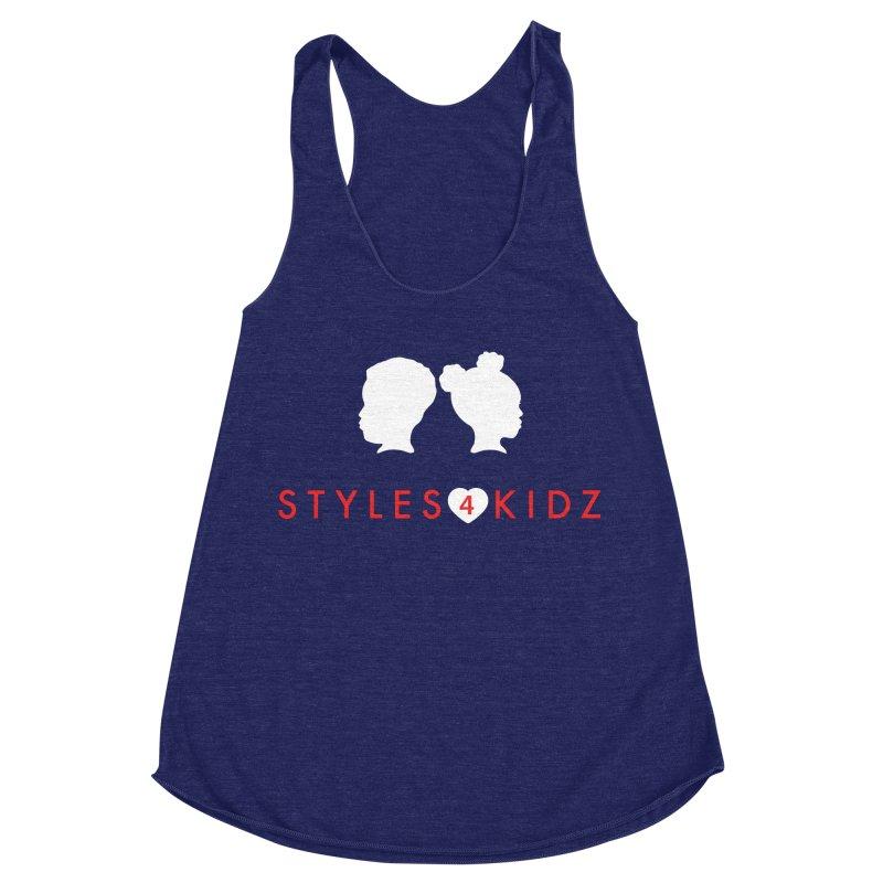 Styles 4 Kidz - Blue Women's Racerback Triblend Tank by STYLES 4 KIDZ, NFP