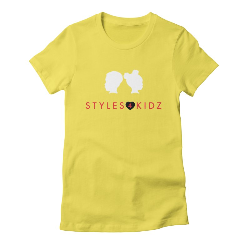 Styles 4 Kidz - Yellow Women's Fitted T-Shirt by STYLES 4 KIDZ, NFP