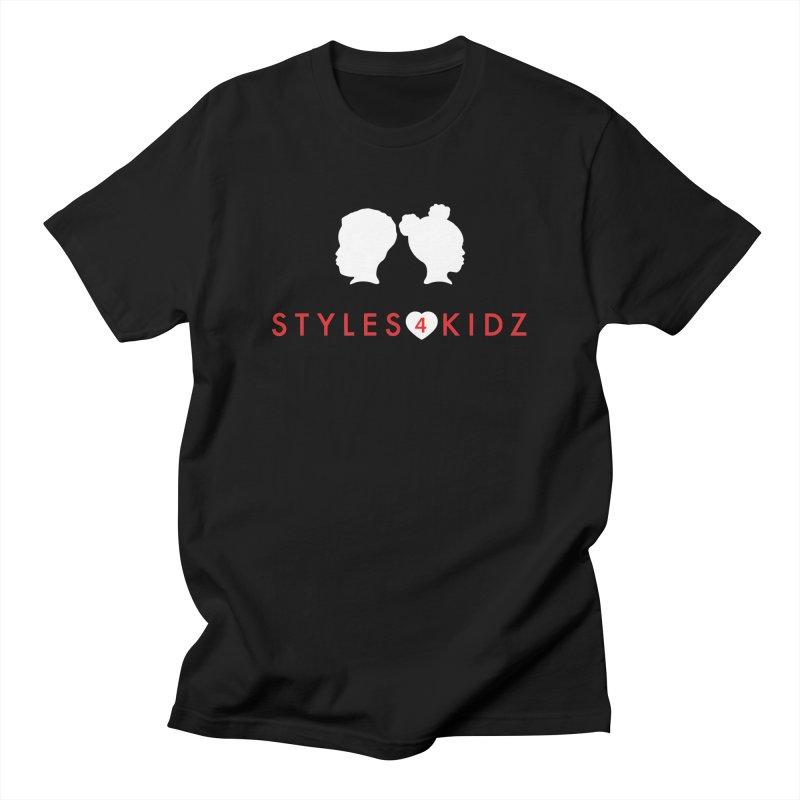 Styles 4 Kidz - Black Men's Regular T-Shirt by STYLES 4 KIDZ, NFP