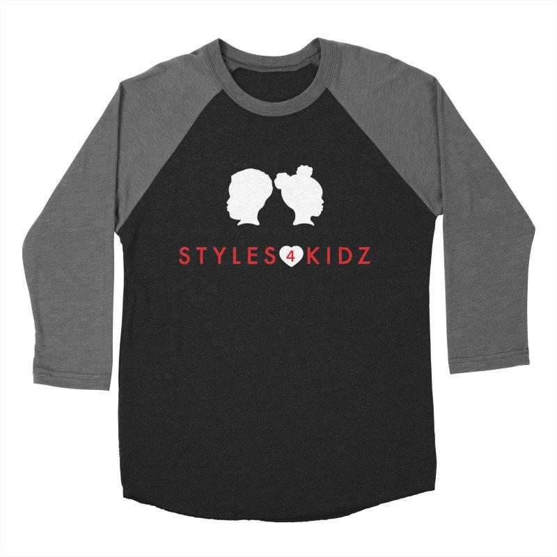 Styles 4 Kidz - Black Men's Baseball Triblend Longsleeve T-Shirt by STYLES 4 KIDZ, NFP