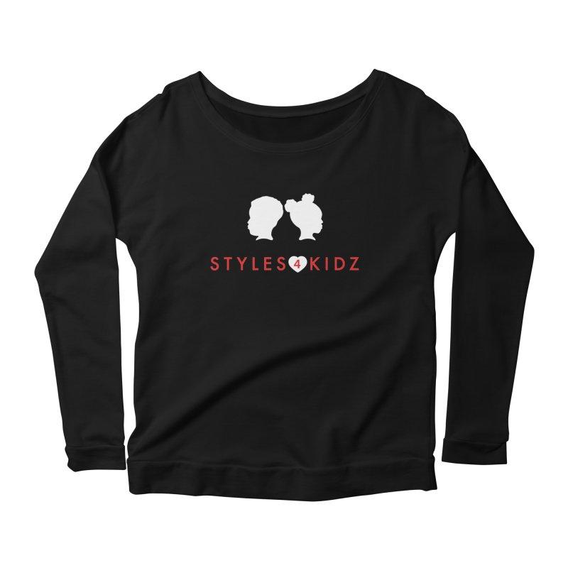 Styles 4 Kidz - Black Women's Scoop Neck Longsleeve T-Shirt by STYLES 4 KIDZ, NFP