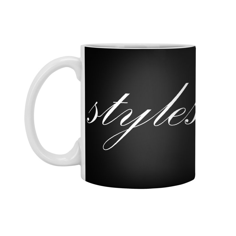 Classic Logo Accessories Standard Mug by Styles in Black