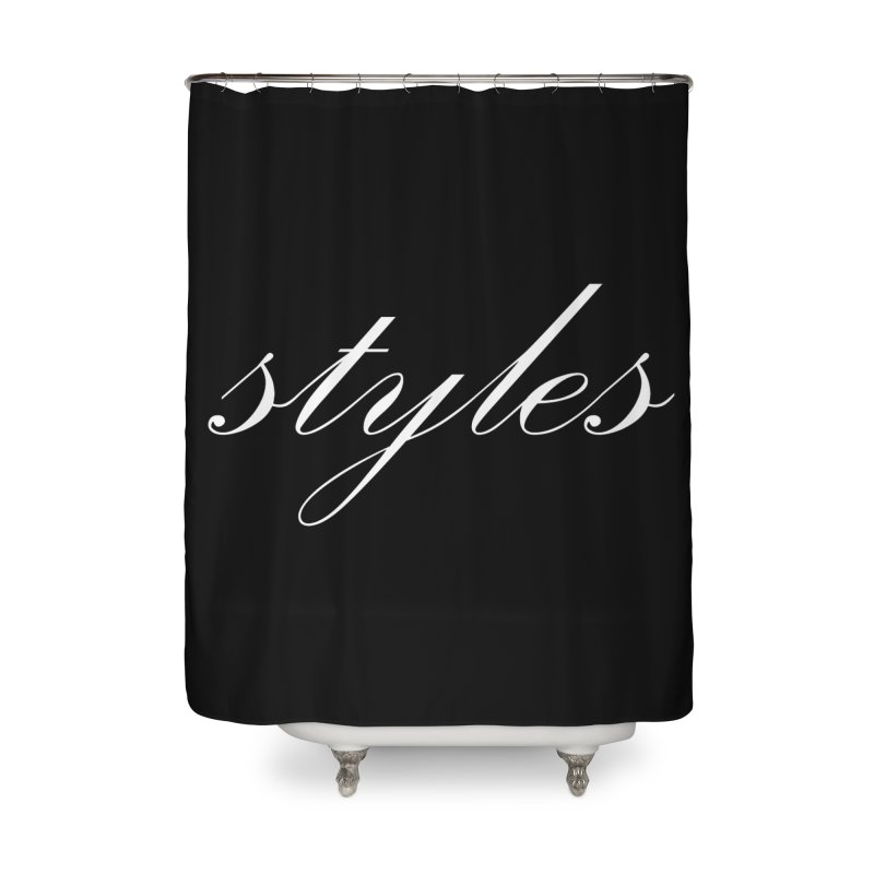 Classic Logo Home Shower Curtain by Styles in Black