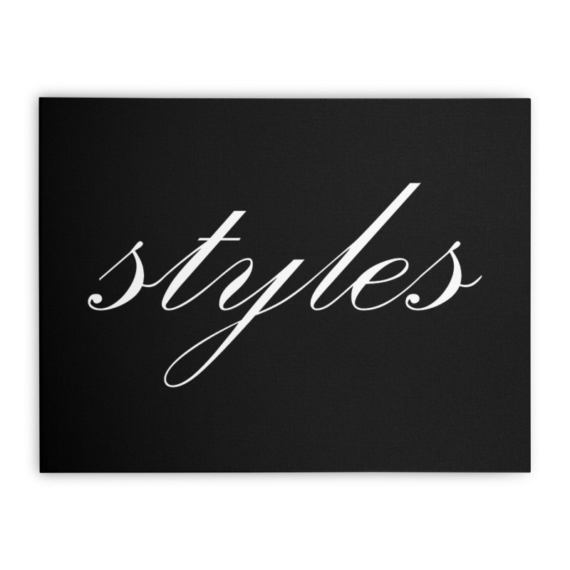 Classic Logo Home Stretched Canvas by Styles in Black