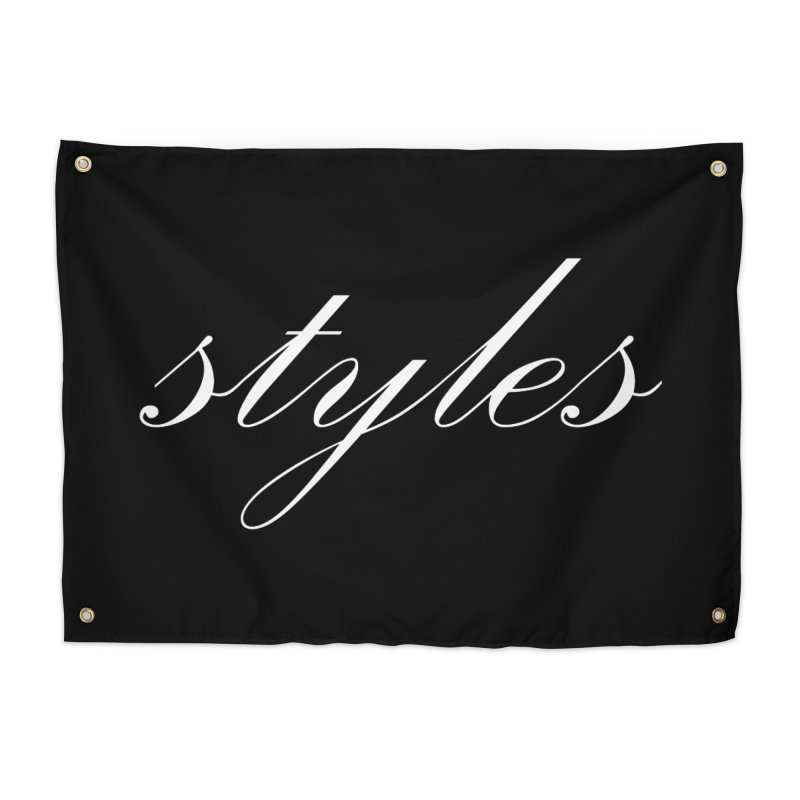Classic Logo Home Tapestry by Styles in Black