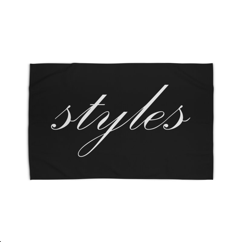 Classic Logo Home Rug by Styles in Black