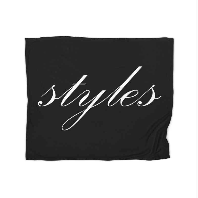Classic Logo Home Fleece Blanket Blanket by Styles in Black
