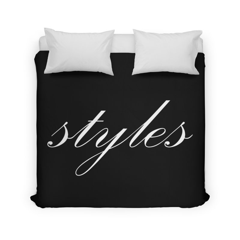 Classic Logo Home Duvet by Styles in Black