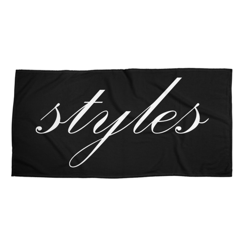 Classic Logo Accessories Beach Towel by Styles in Black