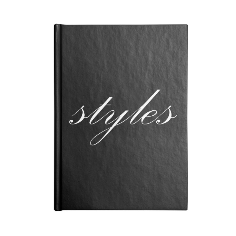 Classic Logo Accessories Lined Journal Notebook by Styles in Black
