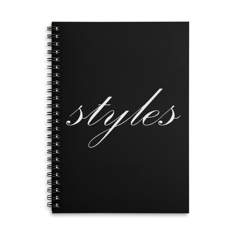Classic Logo Accessories Lined Spiral Notebook by Styles in Black