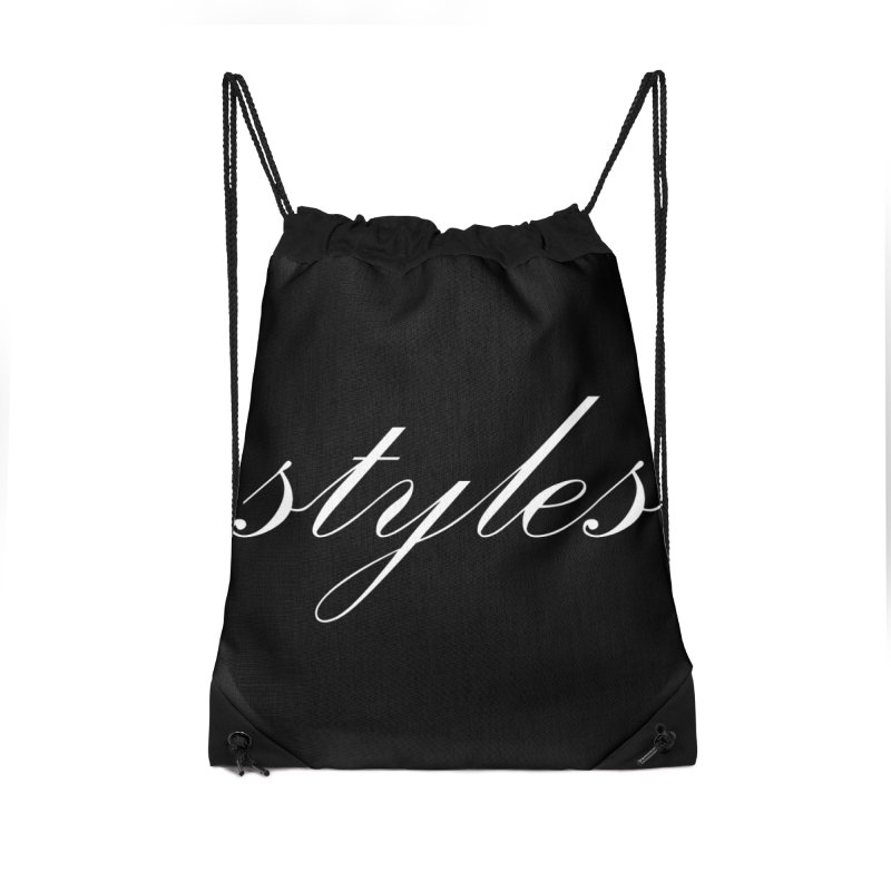 Classic Logo Accessories Drawstring Bag Bag by Styles in Black