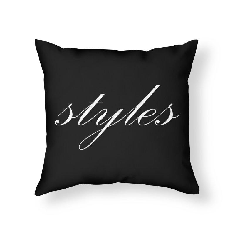 Classic Logo Home Throw Pillow by Styles in Black