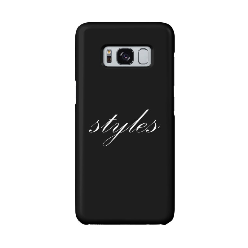 Classic Logo Accessories Phone Case by Styles in Black