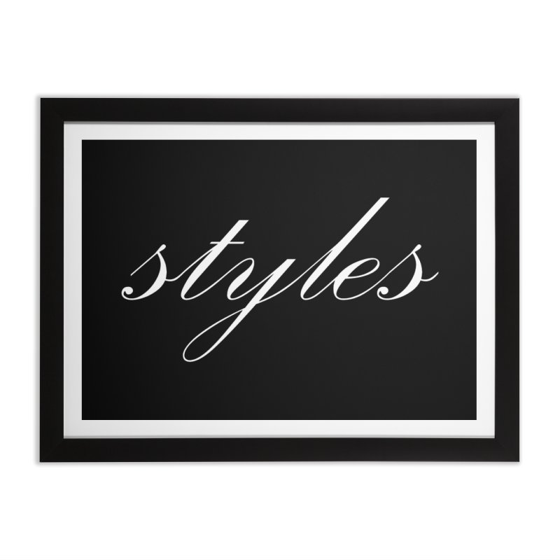 Classic Logo Home Framed Fine Art Print by Styles in Black