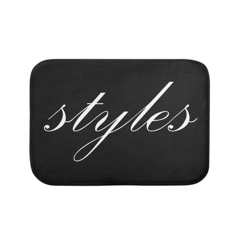 Classic Logo Home Bath Mat by Styles in Black