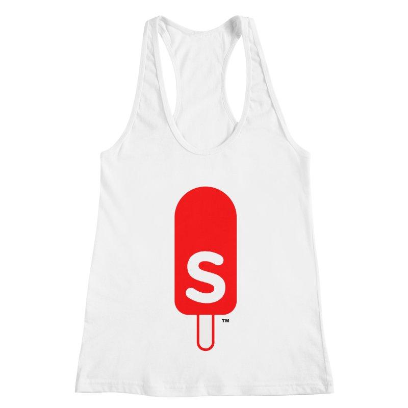 Summer J. Pops logo Women's Racerback Tank by Summer J. Pops SWAG Shop
