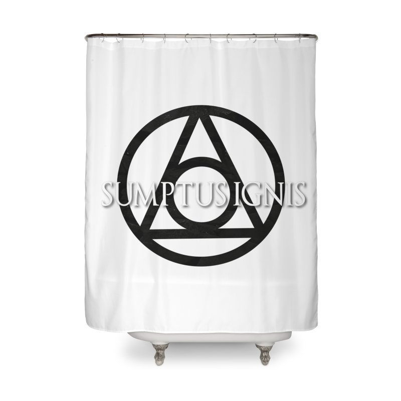 Logo textured Home Shower Curtain by SumptusIgnis's Artist Shop