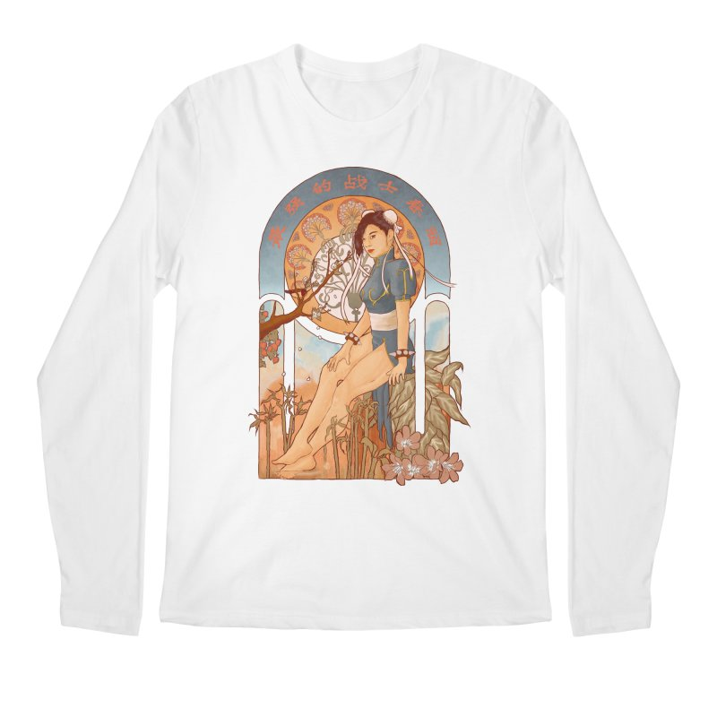 Nouveau Chun Li Men's Longsleeve T-Shirt by Sunless's Artist Shop