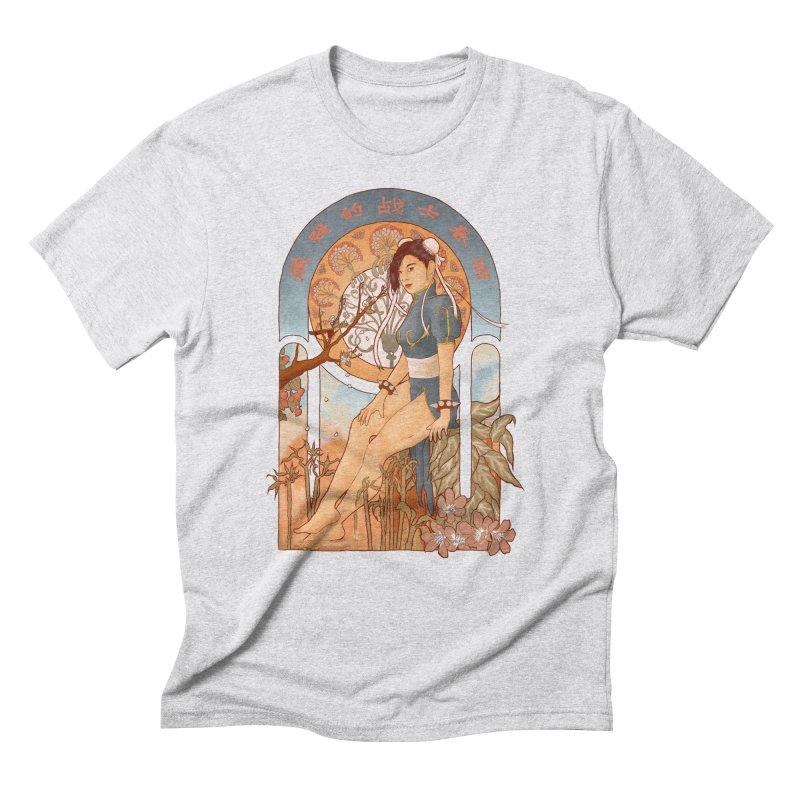 Nouveau Chun Li Men's Triblend T-Shirt by Sunless's Artist Shop