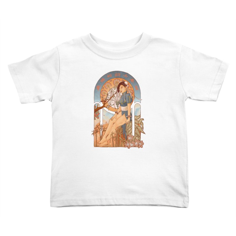 Nouveau Chun Li Kids Toddler T-Shirt by Sunless's Artist Shop
