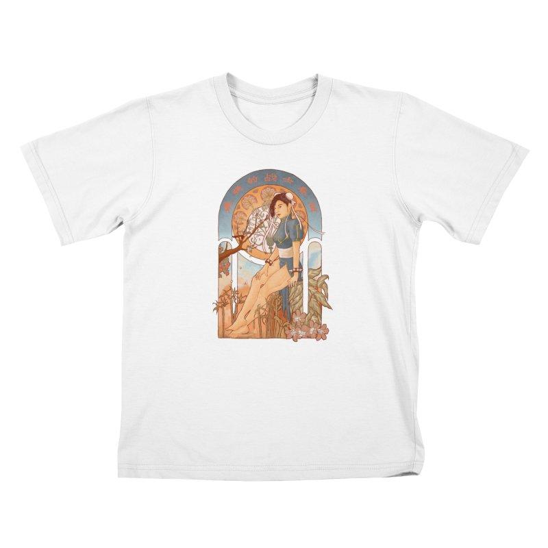 Nouveau Chun Li Kids T-Shirt by Sunless's Artist Shop