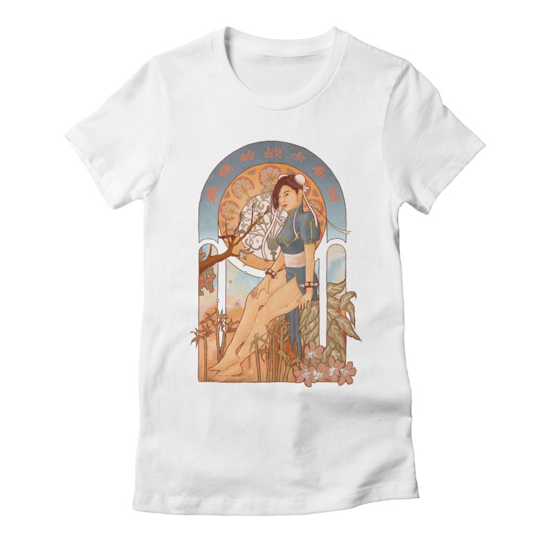 Nouveau Chun Li Women's Fitted T-Shirt by Sunless's Artist Shop