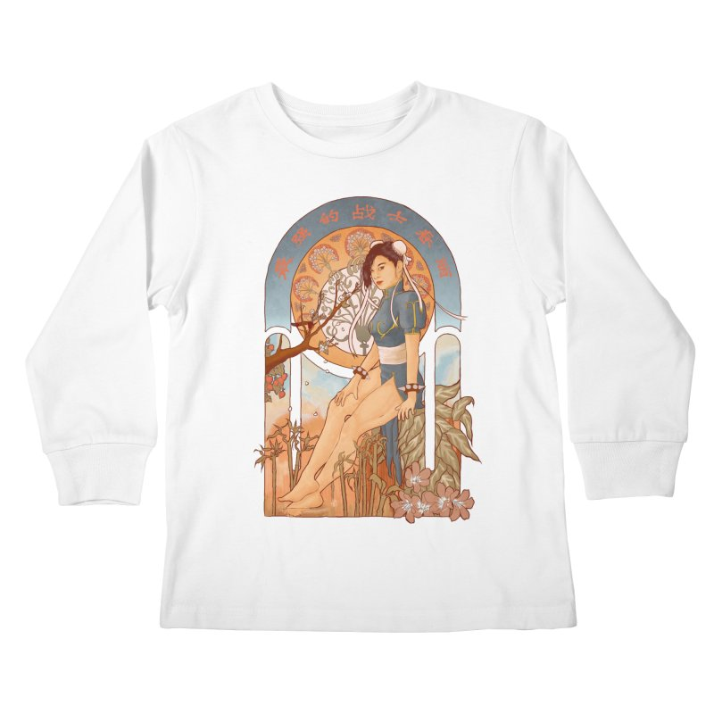 Nouveau Chun Li Kids Longsleeve T-Shirt by Sunless's Artist Shop
