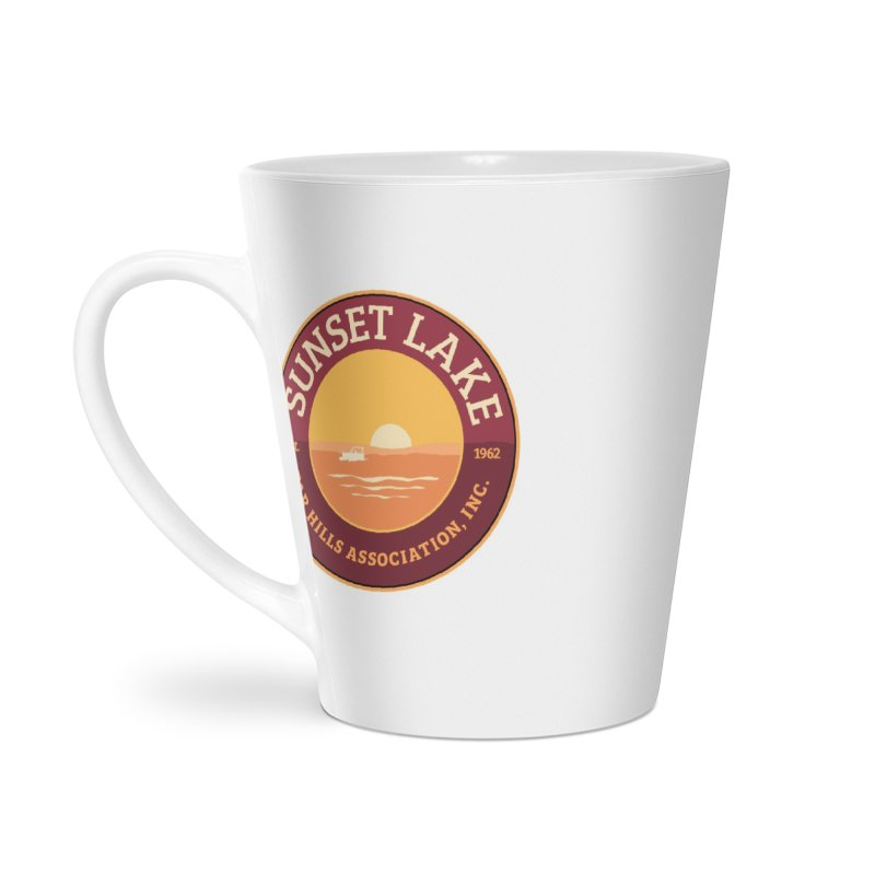 Color logo Accessories Latte Mug by Sunset Lake Swag