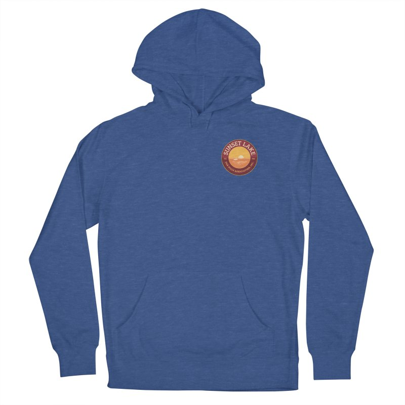 Color logo Men's French Terry Pullover Hoody by Sunset Lake Swag