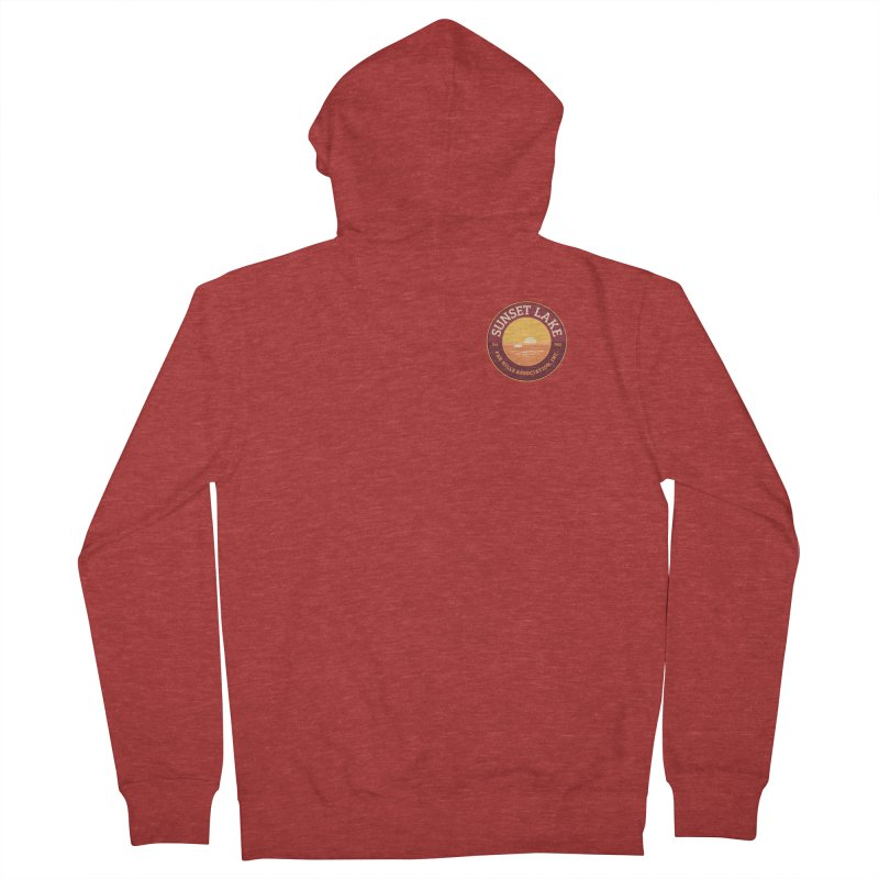 Color logo Women's French Terry Zip-Up Hoody by Sunset Lake Swag