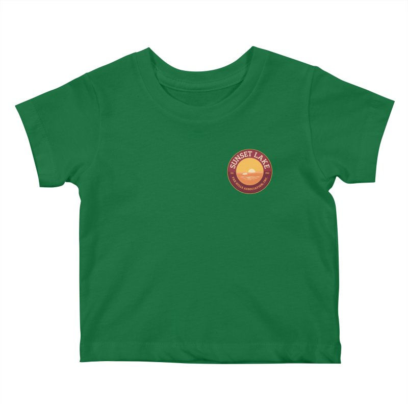 Color logo Kids Baby T-Shirt by Sunset Lake Swag