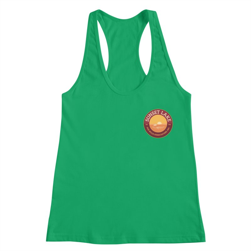 Color logo Women's Racerback Tank by Sunset Lake Swag