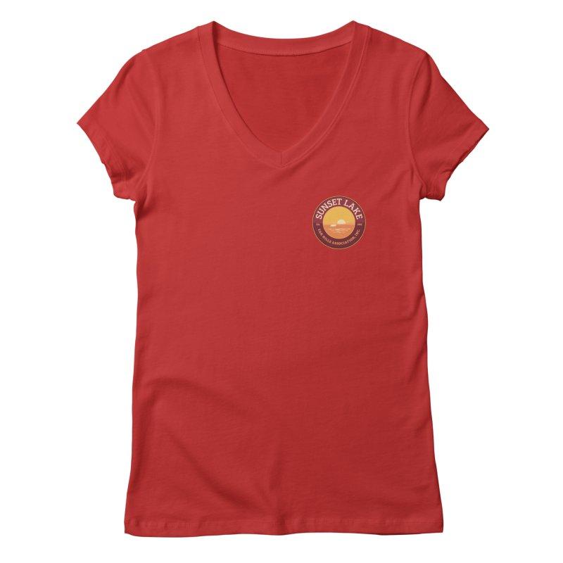 Color logo Women's Regular V-Neck by Sunset Lake Swag